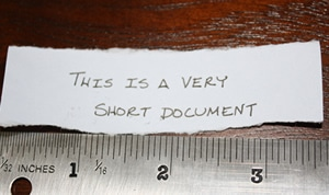 Editing Tips for Very Short Documents