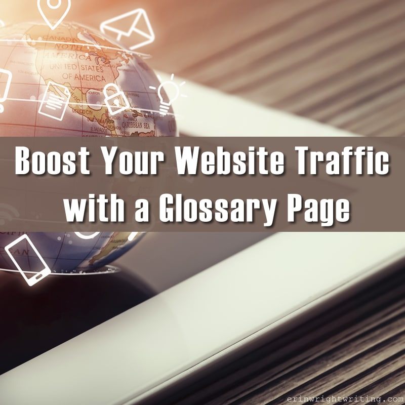 Boost Your Website Traffic with a Glossary Page | Image of Globe Spinning above Tablet
