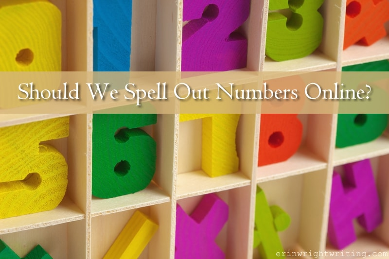 Should We Spell Out Numbers Online? | Image of Wooden Block Letters