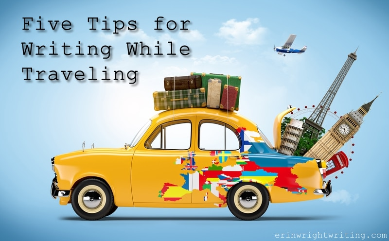 Five Tips for Writing While Traveling | Car with Suitcases