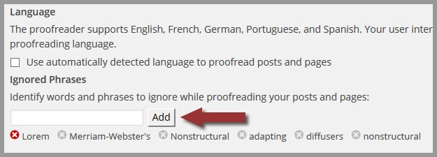 Step 3: How to Edit Your Ignored Words and Phrases in WordPress