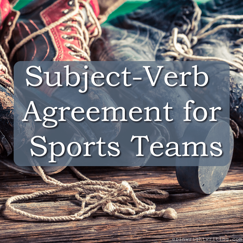 Subject-Verb Agreement for Sports Teams | Image of Ice Skates with Hockey Puck
