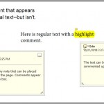 Acrobat Comment Examples
