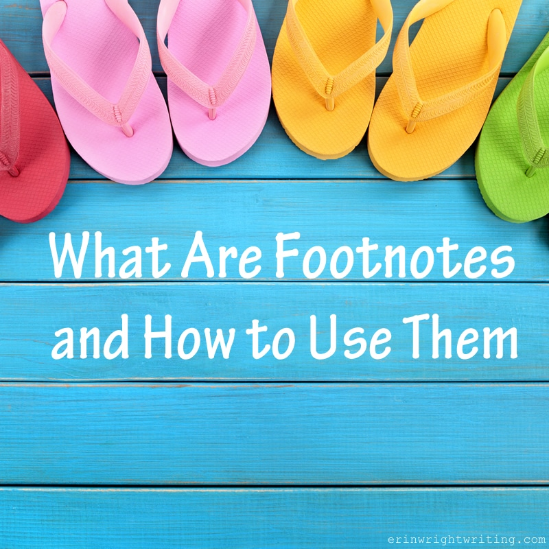 What are Footnotes and How to Use Them   Image of Flip Flops on a Blue Deck