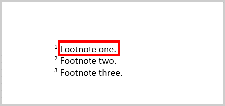 Image of a Footnote in Word 365 / Word 2019 | Step 7 in How to Insert Footnotes and Endnotes in Word