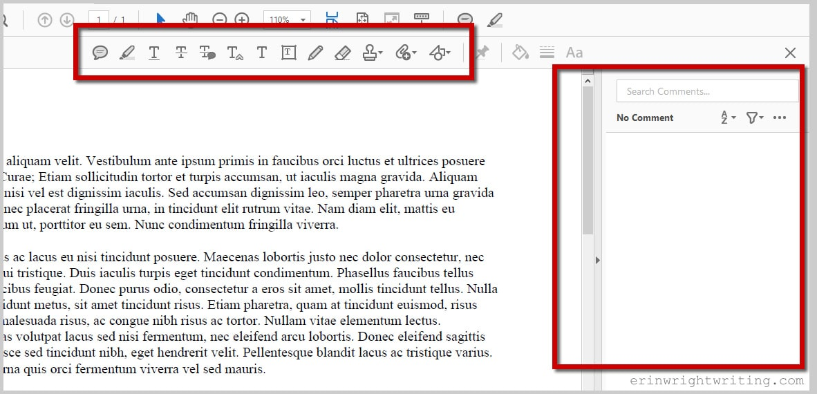 Adobe Acrobat DC Comment and Mark-Up Toolbar and Comment Pane: How to edit a PDF with Adobe Acrobat DC's Comment and Mark-Up Tools