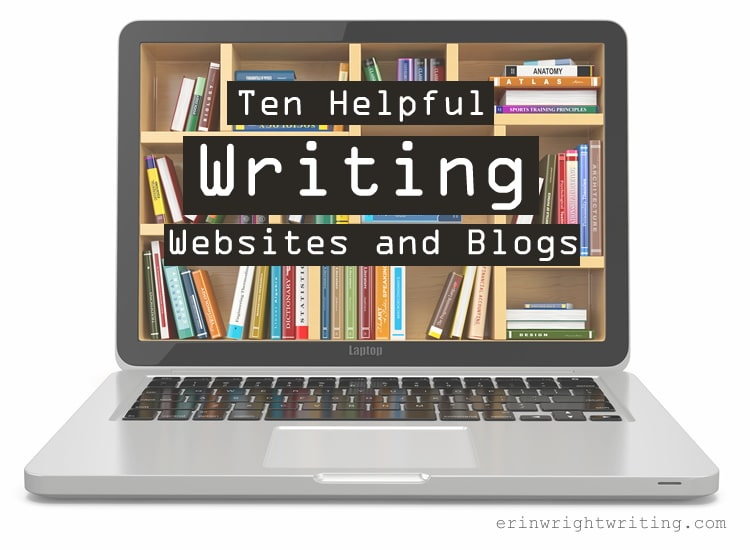 Ten Helpful Writing Websites and Blogs | Image of books on laptop screen