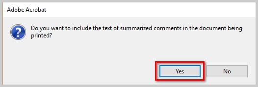 Image of Adobe Acrobat DC Print Comment Summary Dialog Box | How to Print PDFs with Comments and Mark-Ups in Adobe Acrobat DC