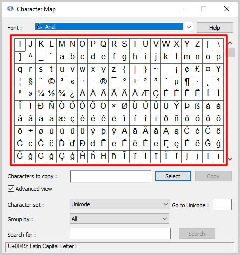 How to Insert Trademark, Copyright, and Registered Symbols in PDFs Character Map Symbols on