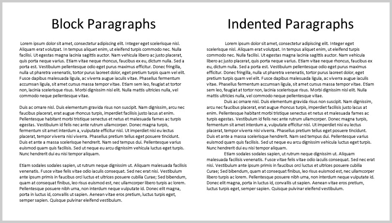Block Paragraphs and Indented Paragraphs | Three Ways to Indent Paragraphs in Microsoft Word