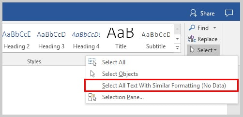 Word 2016 Select All Text With Similar Formatting | How to Indent Paragraphs in Microsoft Word
