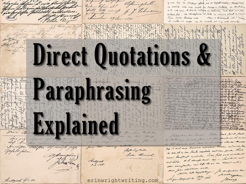 Image of Handwritten Postcards | Direct Quotations and Paraphrasing Explained