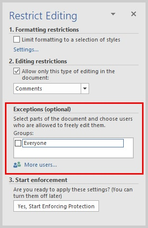 Microsoft Word Restrict Editing Task Pane Exceptions | How to Restrict Editing in Microsoft Word
