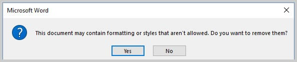 Microsoft Word 2016 Restrict Editing Question Box | How to Restrict Style Changes in Microsoft Word