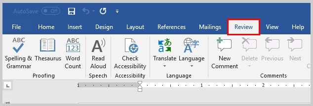 Image of Microsoft Word Review Tab | How to View Specific Reviewers' Comments and Edits in Microsoft Word