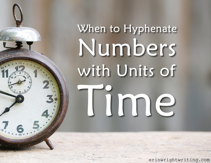 Image of Clock | When to Hyphenate Numbers with Units of Time