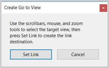 Image of Create Go to View Dialog Box