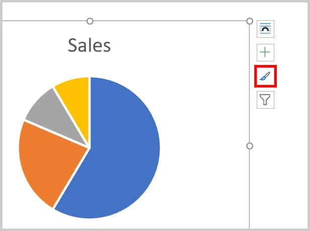 Chart Styles button in Word 365
