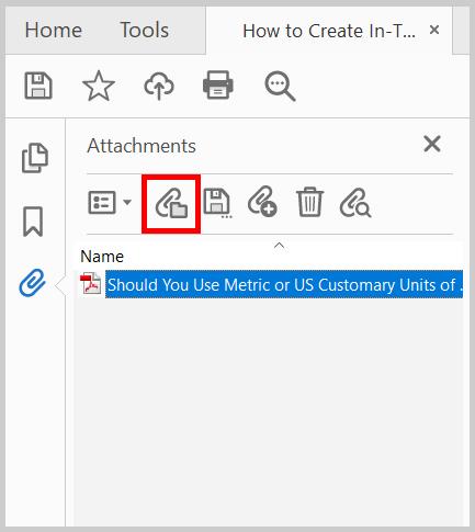 Adobe Acrobat Open File button