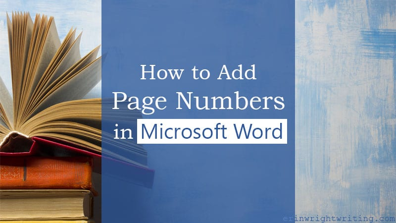 "Stack of books with text overlay ""How to Add Page Numbers in Microsoft Word"""