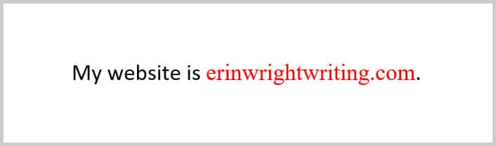Example of unfollowed hyperlink with custom style in Word 365