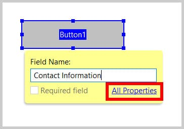 All Properties button link in Adobe Acrobat