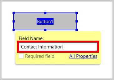 Button File Name text box in Adobe Acrobat