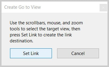 Create Go to View dialog box in Adobe Acrobat