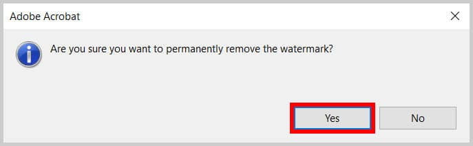 Permanently remove watermark dialog box in Adobe Acrobat