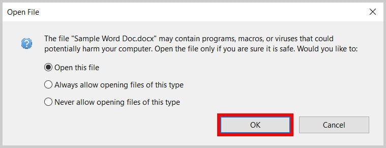 Adobe Acrobat Open File Dialog Box
